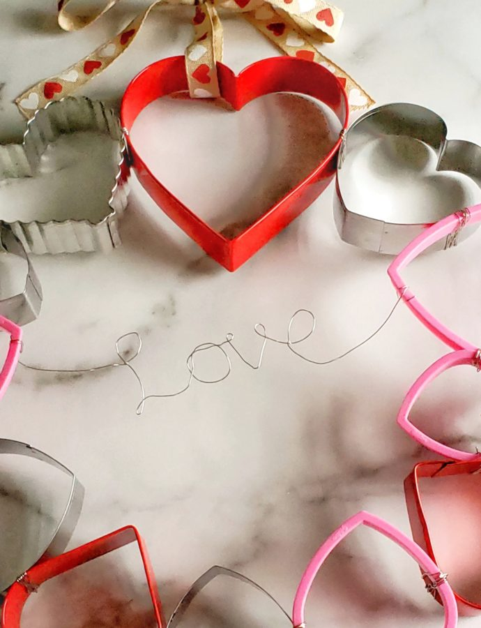 Valentine's Day Cookie Cutter Wreath