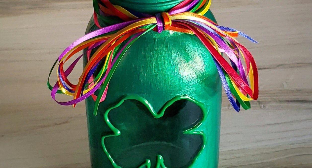 Clover Mason Jar Candle Holder