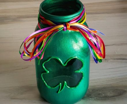 Clover Mason Jar Candle Holder