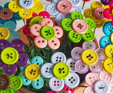 Button Flower Bouquet