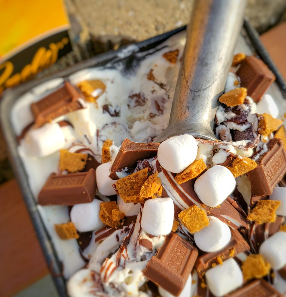 smores no churn ice cream, s'mores no churn ice cream