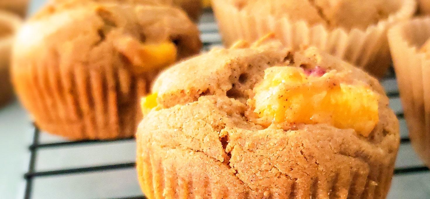 Peach Gingerbread Muffins