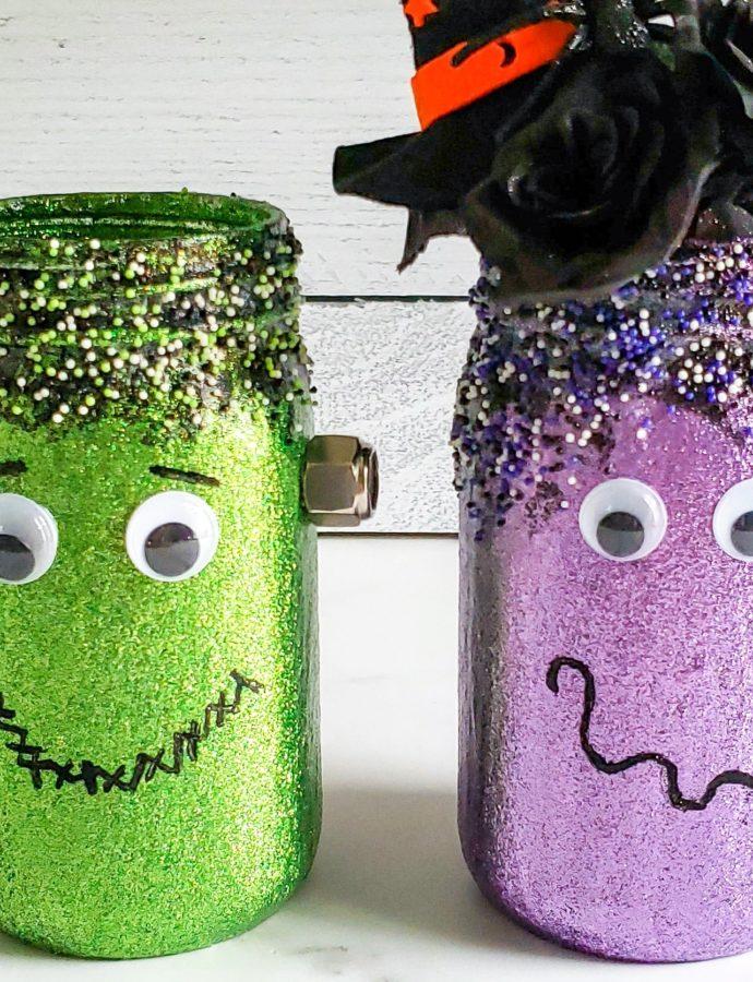 Halloween Mason Jar Characters