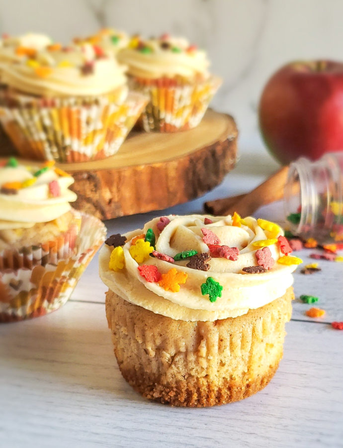 Salted Caramel Apple Pie Cupcakes