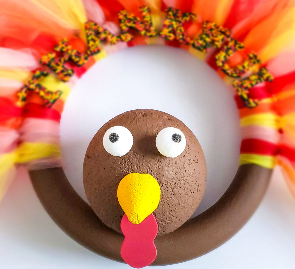 turkey wreath craft tutorial