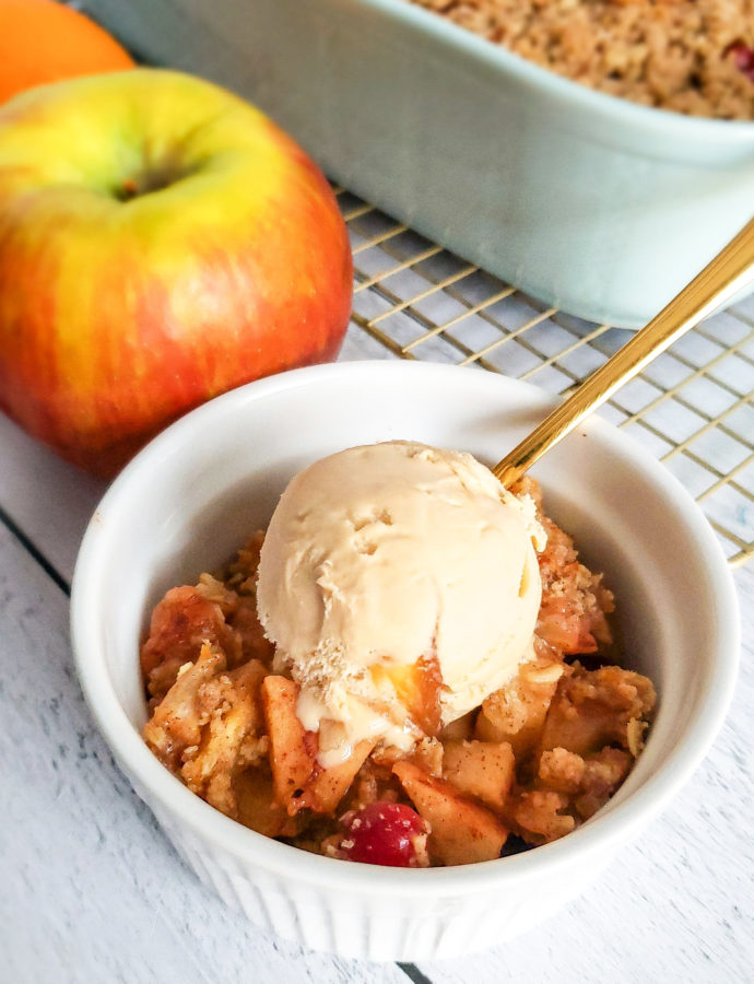 Apple Orange Cranberry Crisp